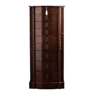 Hives and Honey Robyn Walnut 8-drawer Jewelry Armoire|https://ak1.ostkcdn.com/images/products/9579010/P16768311.jpg?impolicy=medium