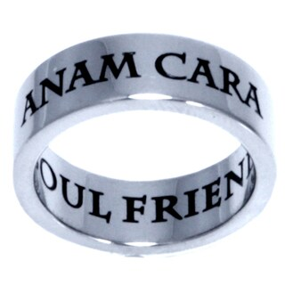 Stainless Steel Anam Cara Soul Friend Ring