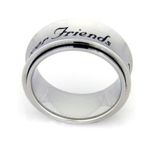 Forever Friends Spinner Stainless Steel Ring - Silver