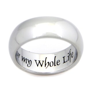 Stainless Steel My Whole Heart For My Whole Life Ring (More options available)