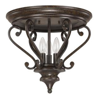 Capital Lighting Maxwell Collection 3-light Chesterfiels Broinze Flush Mount Light