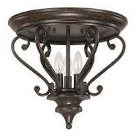 Capital Lighting Maxwell Collection 3-light Chesterfiels Broinze Flush Mount Light