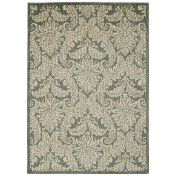 Rug Squared Lafayette Blue/ Ivory Abstract Area Rug (9'3 x 12'9)