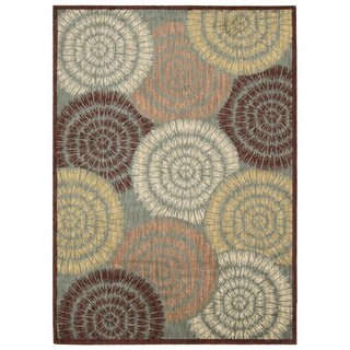 Rug Squared Lafayette Multicolor Abstract Area Rug (9'3 x 12'9)
