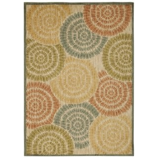Rug Squared Lafayette Light Multicolor Abstract Area Rug (9'3 x 12'9)
