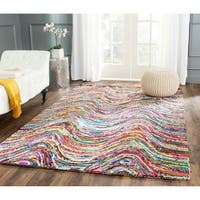 Safavieh Handmade Nantucket Modern Abstract Multicolored Cotton Runner Rug - 2'3 x 7'