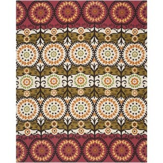 Safavieh Hand-loomed Cedar Brook Red/ Orange Cotton Rug (7'3 x 9'3)
