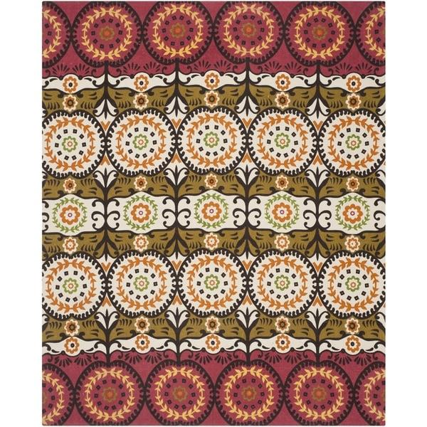 Safavieh Hand-loomed Cedar Brook Red/ Orange Cotton Rug - 7'3 x 9'3