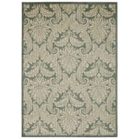 Rug Squared Lafayette Blue/ Ivory Abstract Area Rug (7'9 x 10'10) - 7'9 x 10'10