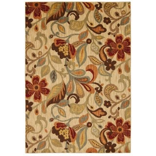 Rug Squared Lafayette Ivory Floral Area Rug (7'9 x 10'10)