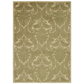 Rug Squared Lafayette Khaki Abstract Area Rug (5'3 x 7'5)