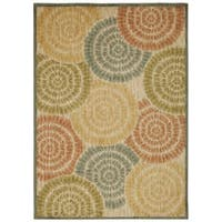 Rug Squared Lafayette Light Multicolor Abstract Area Rug (3'9 x 5'9)