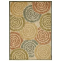 Rug Squared Lafayette Light Multicolor Abstract Area Rug - 3'9 x 5'9