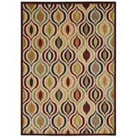 Rug Squared Lafayette Multicolor Abstract Area Rug (3'9 x 5'9)