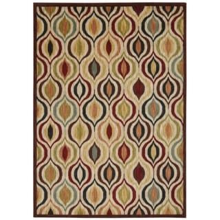Rug Squared Lafayette Multicolor Abstract Area Rug (7'9 x 10'10)