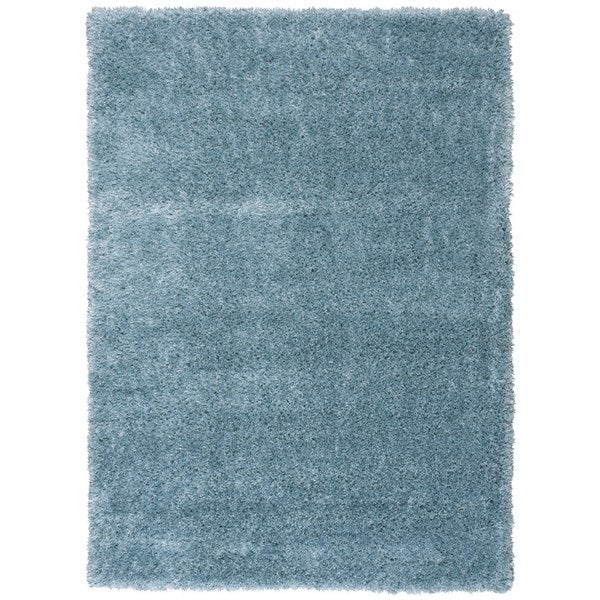 Rug Squared Monticello Aqua Solid Shag Rug (7'10 x 9'10)
