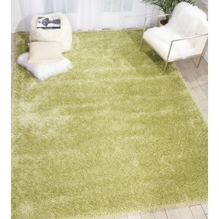 Rug Squared Monticello Green Solid Shag Rug (5'3 x 7'3)