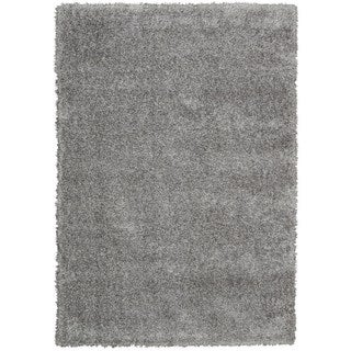 Rug Squared Monticello Grey Solid Shag Rug (3'11 x 5'11)