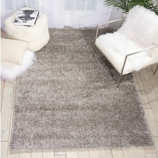 Rug Squared Monticello Grey Solid Shag Rug (5'3 x 7'3)