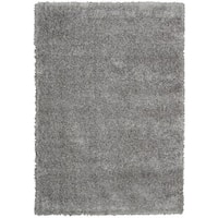 Rug Squared Monticello Grey Solid Shag Rug - 7'10 x 9'10