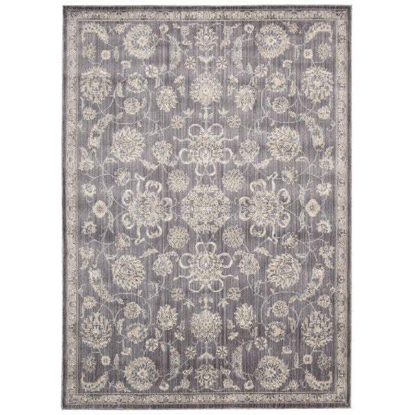 Rug Squared Phoenix Charcoal Oriental Area Rug (5'3 x 7'3) - 5'3 x 7'3