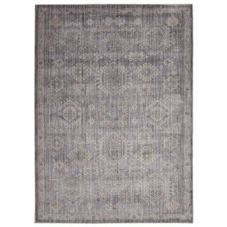 Rug Squared Phoenix Charcoal Oriental Area Rug (5'3 x 7'3)