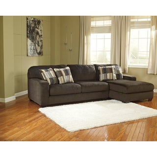 Signature Design by Ashely Westen 2-Piece Chocolate Corner Chaise and Sofa Sectional