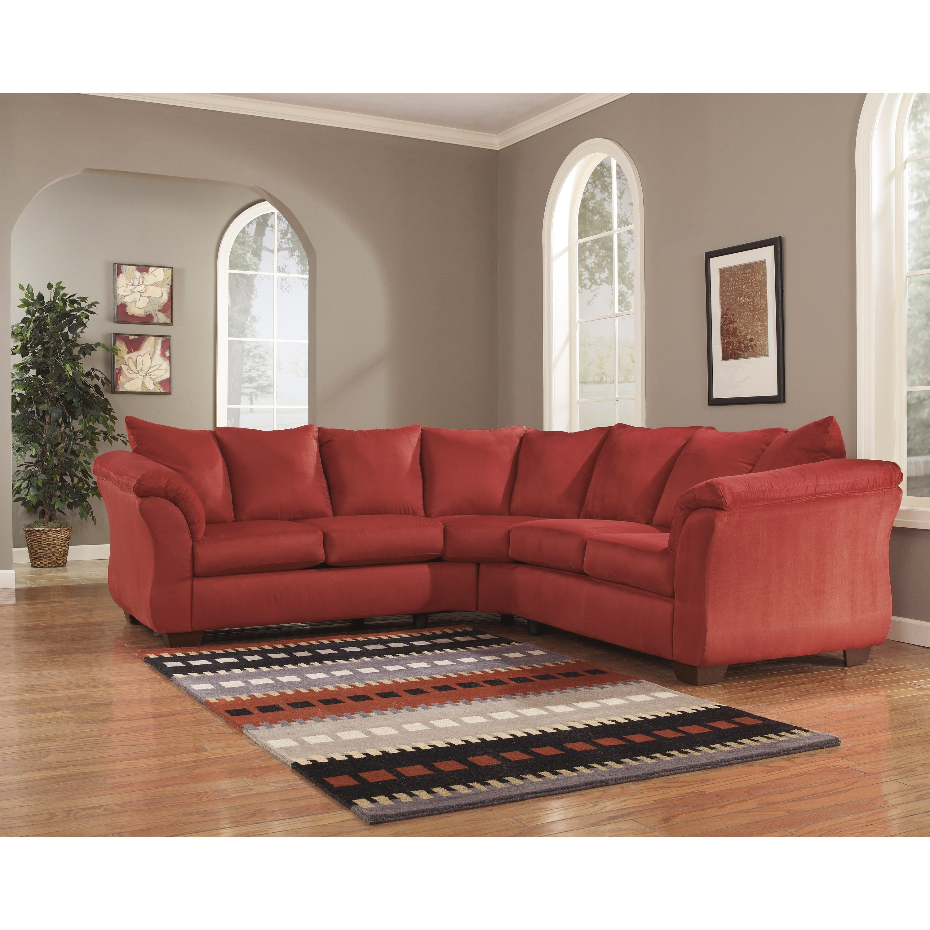 Astonishing Darcy 2 Piece Salsa Loveseat Sectional Alphanode Cool Chair Designs And Ideas Alphanodeonline
