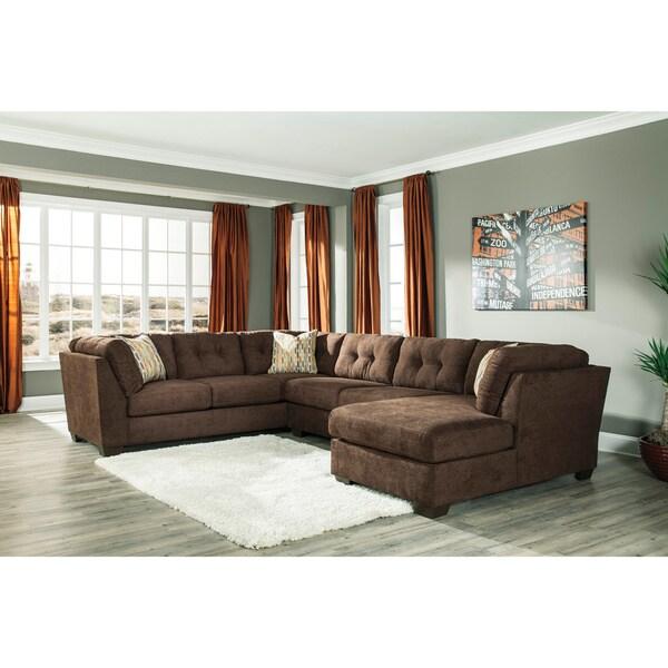 Signature design by ashley delta city 3 piece corner for 3 piece corner sectional sofa