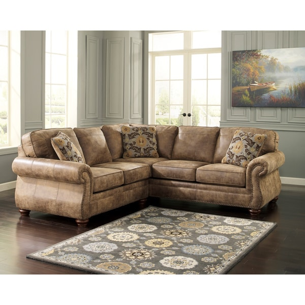 Ashleys Furiture: Shop Larkinhurst 2-piece Earth Sofa And Loveseat Sectional