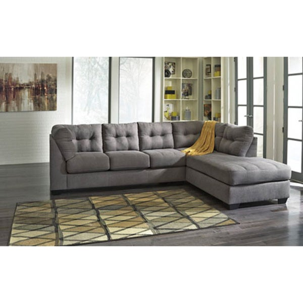 Shop Maier Charcoal Corner Chaise And Sofa Sectional