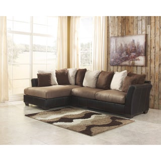 Signature Design by Ashley Masoli 2-Piece Mocha Sofa and Corner Chaise Sectional
