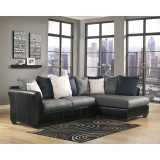 Signature Design by Ashley Masoli Cobbelstone Corner Chaise and Sofa Sectional