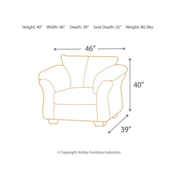 Marvelous Shop Signature Designs By Ashley Darcy Sage Arm Chair Free Ibusinesslaw Wood Chair Design Ideas Ibusinesslaworg