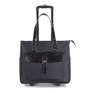 Heritage Travelware Women's Carry On Wheeled 17-inch Laptop Upright Tote