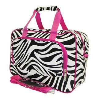 World Traveler Zebra 15-inch Lightweight Carry-On Shoulder Tote Duffle Bag