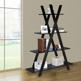 4 Tiers Kross Brown Bookcase