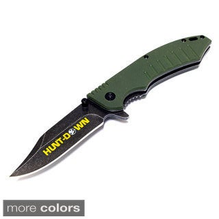7.5-inch HuntDown Folding Spring Assisted Knife with Belt Clip