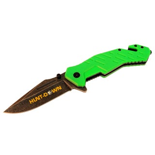 8-inch Hunt -Down Folding Spring Assisted Knife with Belt Clip