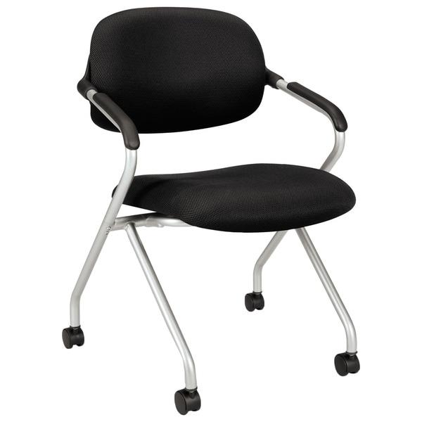 HON VL303 Series Black/ Silver Nesting Arm Chair