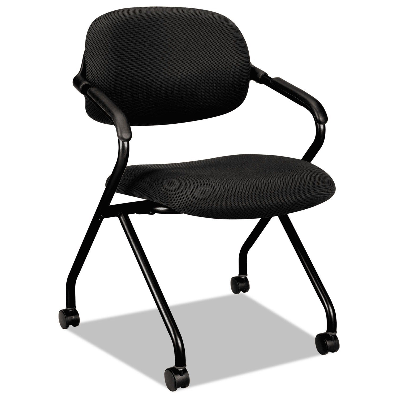 HON VL303 Serious Black/ Black Nesting Arm Chair (Include...