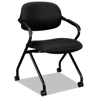 basyx by HON VL303 Serious Black/ Black Nesting Arm Chair