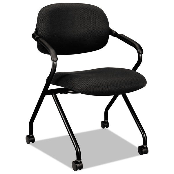 basyx by HON VL303 Serious Black/ Black Nesting Arm Chair