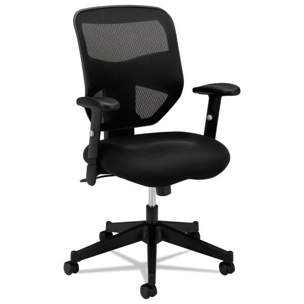 HON Prominent High Back Task Chair, Adjustable Arms, Black (BSXVL531)