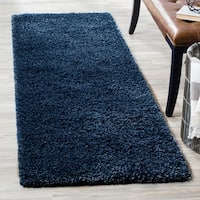"Safavieh California Cozy Plush Navy Shag Rug - 2'3"" x 7'"