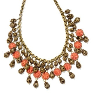 Sweet Romance Retro Coral Filigree Collar Retro Necklace