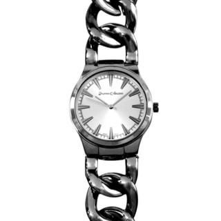 Journee Collection Round Face Chain Band Quartz Watch