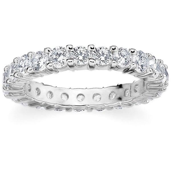 Amore Platinum 2ct Tdw Shared G Diamond Wedding Band