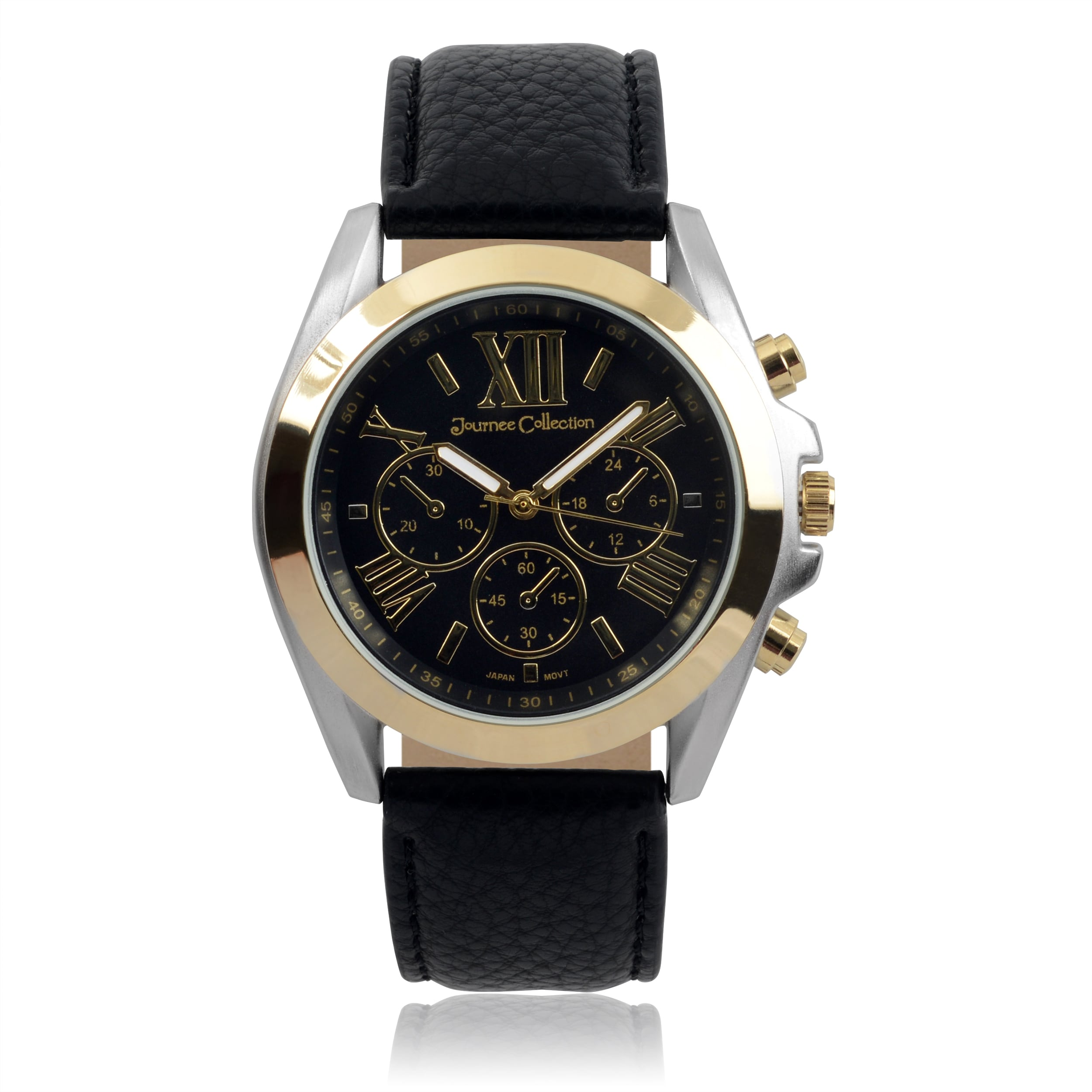 Journee collection Women's Round Roman Numeral Dial Faux ...
