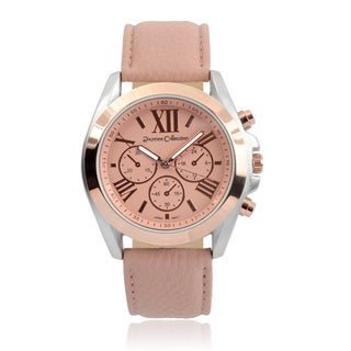 Journee Collection Round Face Quartz Watch